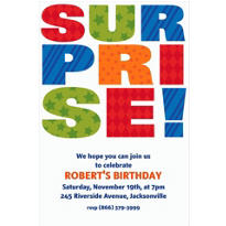 Custom Surprise Block Invitations