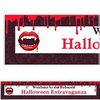Fangtastic Halloween Custom Banner