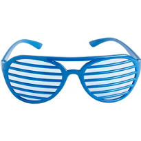 Blue Slotted Shades