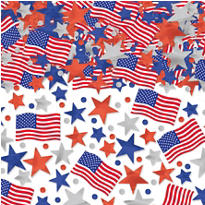 Patriotic Star & Flag Confetti