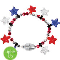 Patriotic Pride Light Up Bracelet 8in