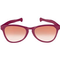 Burgundy Giant Fun Glasses 11in