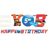 Add an Age Cars 2 Letter Banner 10ft