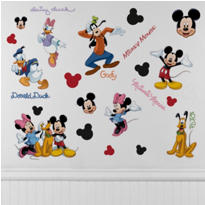 Mickey & Friends Wall Decals 30pc