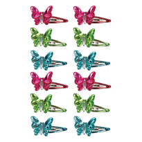 Tropical Butterfly Snap Clips 12ct