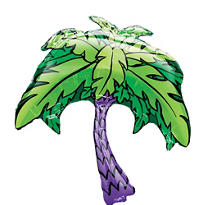Foil Palm Tree Balloon 33in