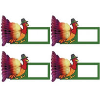 Turkey Honeycomb Place Cards 4in 4ct