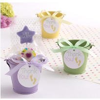 Pastel Baby Feet Pail Favor Kit Assortment 18ct