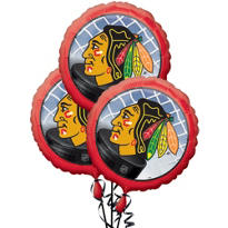 Chicago Blackhawks Balloons 3ct