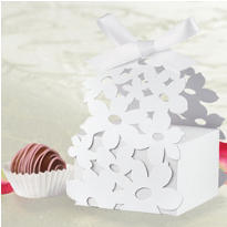 White Die Cut Favor Box Kit 24ct
