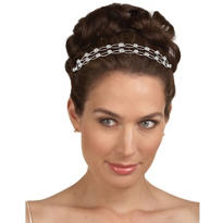 Double Rhinestone Wedding Tiara