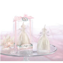 Wedding Dress Candle Bridal Shower Favor