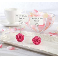 Pink Flower Place Card Holder Favor