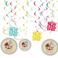Modern Mommy Swirl Decorations 12ct