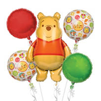 Winnie the Pooh Baby Shower Balloon Bouquet 5pc