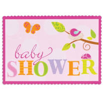 Tweet Baby Girl Baby Shower Invitations 8ct