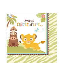 Lion King Baby Shower Lunch Napkins 16ct