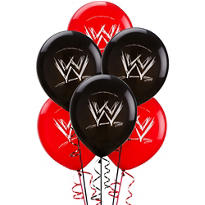 Latex WWE Balloons 12in 6ct