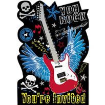 Party Rock Invitations 8ct