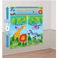 Jungle Animals Scene Setters 5pc