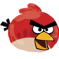 Foil Angry Birds Red Balloon 23in