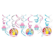 Disney Princess 1st Birthday Swirl Decorations 12ct