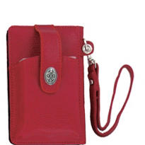 Red Cell Phone Wallet Wristlet
