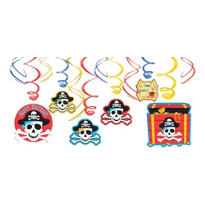 Pirate's Treasure Swirl Decorations 12ct