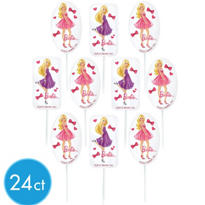 Barbie Cupcake Picks 24ct