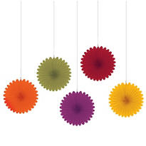 Fall Hanging Fans 6in 5ct