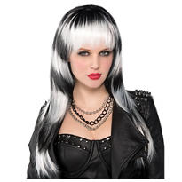 Untamed Black and White Wig