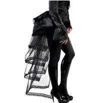 Goth Tie-On Black Bustle