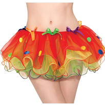 Adult Sassy Clown Tutu