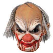 Bloody Old Man Clown Mask
