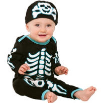 Baby Glow In The Dark Bones Bodysuit - Skeleton