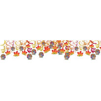 Thanksgiving Swirl Decorations Mega Value Pack 30ct
