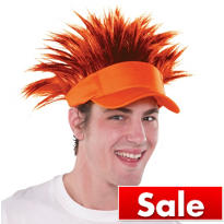 Orange Spikey Hair Visor