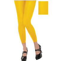 Footless Yellow Tights