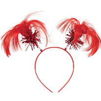 Red Ponytail Head Bopper 8in