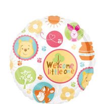Foil Welcome Little One Winnie The Pooh Balloon 18in