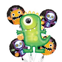 Foil Boo Crew Halloween Balloon Bouquet 5pc