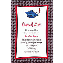 Custom Handsome Grad Guy Graduation Invitations