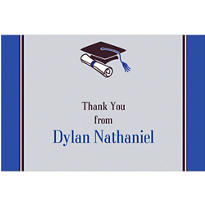 Custom Colorblock Class Stripe Graduation Thank You Notes