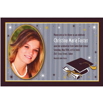 Grad Honors Custom Photo Invitation
