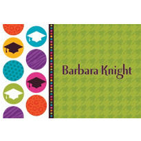 Custom Colorful Commencement Graduation Thank You Notes