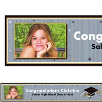 Grad Honors Custom Photo Banner 6ft