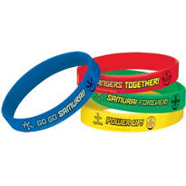 Power Rangers Wrist Bands 4ct