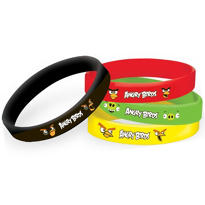 Angry Birds Wristbands 4ct