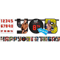 Add An Age WWE Birthday Banner 10ft