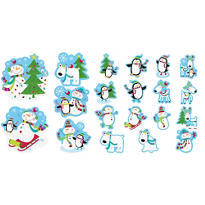 Joyful Snowman Glitter Cutouts 20ct